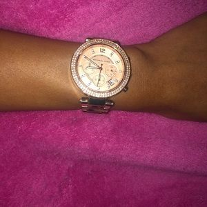 Michael kors rose gold turtle band watch